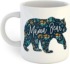 Mama Bear Retro Floral Coffee Mug