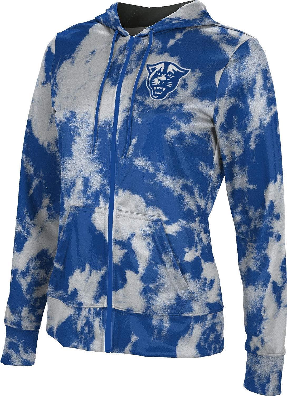Georgia State University Girls' Zipper Hoodie, School Spirit Sweatshirt (Grunge)