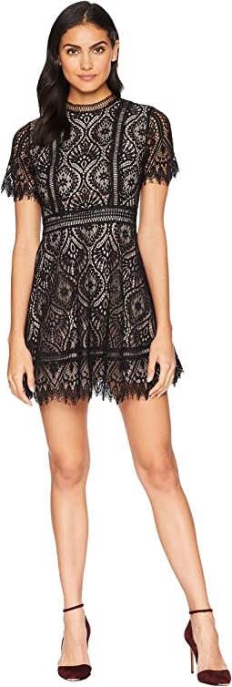On the List Two-Tone Lace Dress