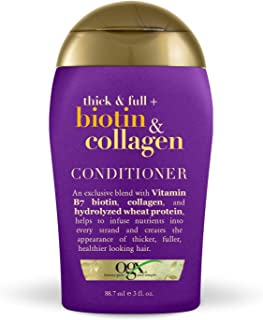 OGX Thick & Full + Biotin & Collagen Conditioner, 3 Ounce Trial Size