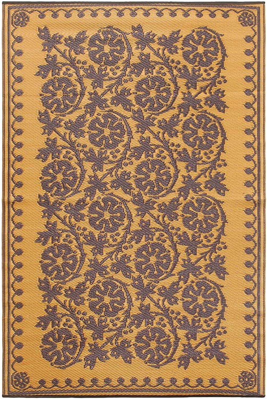 Achla Designs Cinquefoil Floor Mat, 4 by 6-Inch, Cinnamon