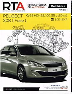 MANUAL DE TALLER Y MECANICA PEUGEOT 308 II FASE I- 1.6 HDI-2013-2017
