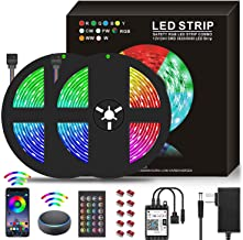10M WiFi LED Strip Lights RGB Strips 32.8ft Tape Light 300 LEDs 5050 Waterproof Music Sync Color Changing + 24Key Remote C...