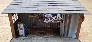 Sign Ford Service Entrance for Diorama - Scale 1:18