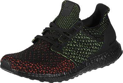 Amazon.com | adidas Ultra Boost Clima Core Black/Solar Red AQ0482 ...