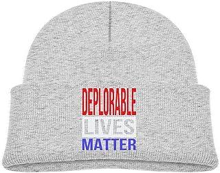ADGoods Kids Children Deplorable Lives Matter Beanie Hat Knitted Beanie Knit Beanie For Boys Girls Gorra de béisbol para n...