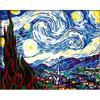 Without Framed TARIZPPG Paint by Numbers Kits for Adults and Kids Diy Oil Painting Digital Abstract waves Canvas Wall Art Home Decoration 40X50Cm//15.80X 19.70 Inch