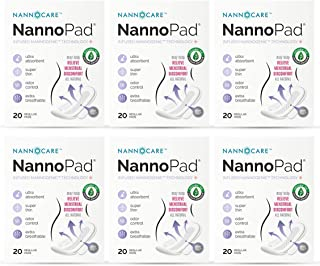 NannoPad Certified Organic Cotton Unscented Feminine Day Pads for Women Period - Regular Absorbency Ultra Thin Breathable Length with Wings All Natural Sanitary Napkin (6 Pack)