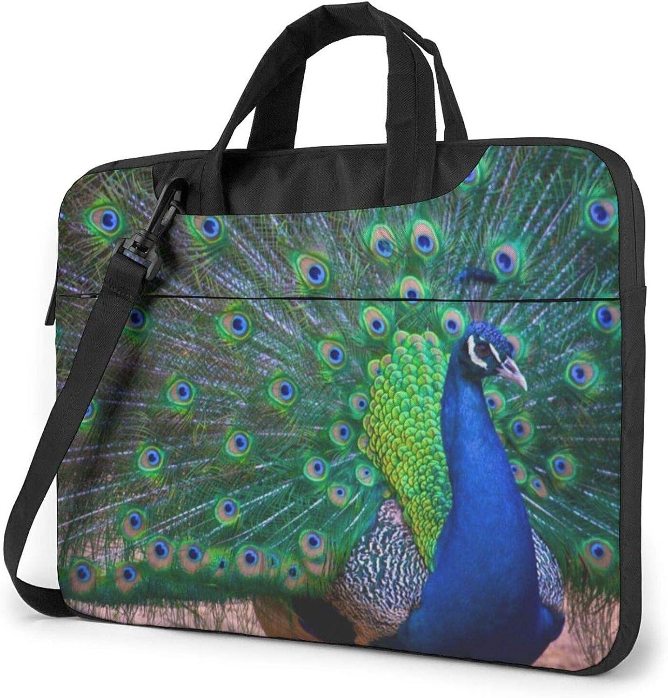 Beautiful Large discharge sale Peacock Printed Laptop Tablet OFFicial Shoulder Bag Ba
