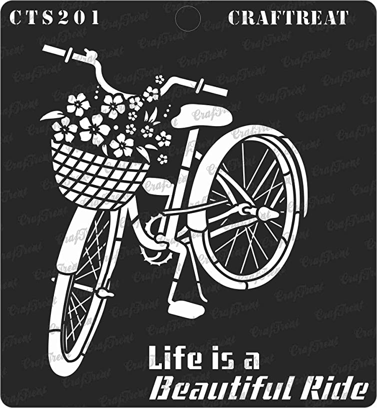 CrafTreat Stencil - Life is a Beautiful Ride | Reusable Painting Template for Home Decor, Crafting, DIY Albums, Scrapbook, Decoration and Printing on Paper, Floor, Wall, Tile, Fabric, Wood 6