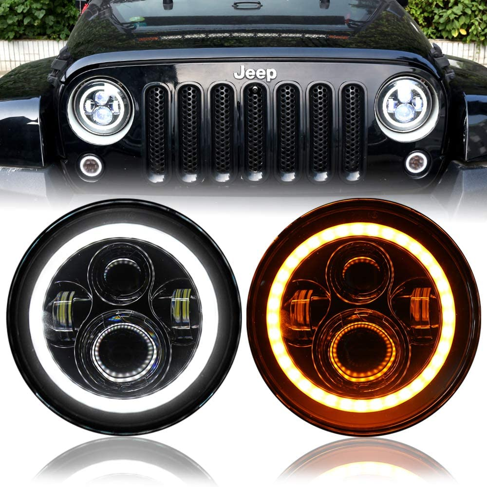 DDUOO 7inch A surprise price is realized LED Headlights DOT Approved Beam Low Sale special price White Ambe High