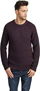 BRAVE SOUL Męski sweter Maximus Twist Cable Kintted Crew Neck Sweter