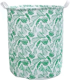 Fan-Ling 1PCS Waterproof Sheets Laundry Clothes Laundry Basket,Storage Basket Folding Storage,Dirty Clothes, Toys, Garbage Storage Basket, Storage Bucket, Big Capacity (Green)