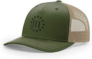 Three Percenter (III%) Embroidered Richardson Hat