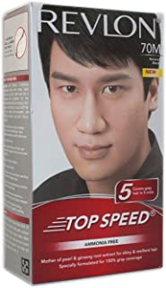 Revlon Top Speed Hair Color Man, Natural Black 70, 100 gm