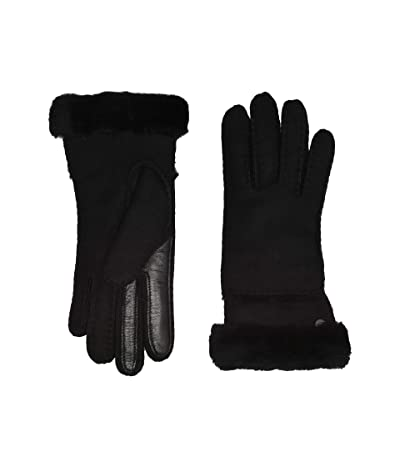 UGG Seamed Tech Water Resistant Sheepskin Gloves (Black) Extreme Cold Weather Gloves
