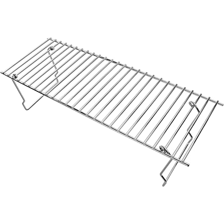 Grisun Universal Grill Rack for Gas, Charcoal, Wood Pellet Grill, Traeger Accessories Chrome Upper Rack, Warming Grate, Warming Rack (19 x 6.6 x 4.5 Inches)