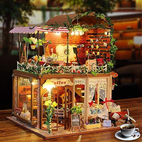 garantía de crédito SJZC SJZC SJZC DIY Casa De muñecas DecoracióN del Hogar Hecho A Mano Kit De Dibujos Animados Miniatura Casa De muñecas Juguete De Regalo  descuento de ventas en línea