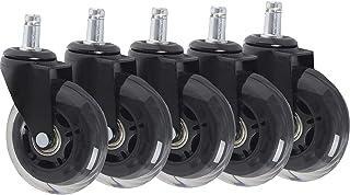 YJJT Rubber wielen - Antislip wielen, PU transparante wielen, plunjer type, eenvoudig te installeren, geschikt voor elektr...