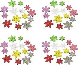 Deko-Blumen aus Holz bunt 14 St/ück