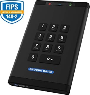 SecureData 4TB SecureDrive KP FIPS 140-2 Solid State Drive with Pin Authenticati