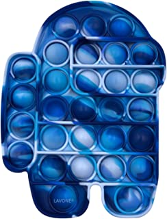 اسباب بازی های Fidget LAVONE ، اسباب بازی حسی Pub Pop Bubble Fidget ، اسباب بازی Push Fidget Fidget برای بزرگسالان ، اسباب بازی تسکین استرس سیلیکون - آبی