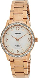 CITIZEN Womens Quartz Watch, Analog Display and Stainless Steel Strap - EL3093-83A