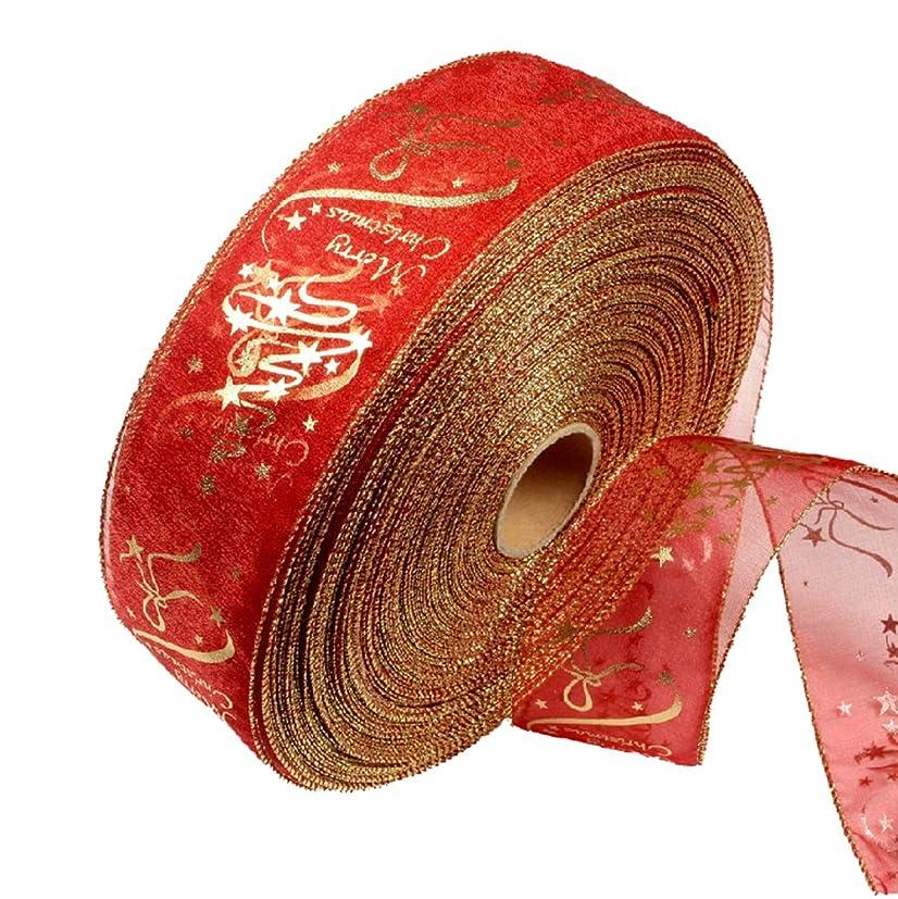 代理人肉腫午後Gespout クリスマス 室内装飾 リボンバナー リボン ツリーの飾り 装飾品 クリスマス用品 人気 クリスマスツリー 飾り パーティーグッズ 赤