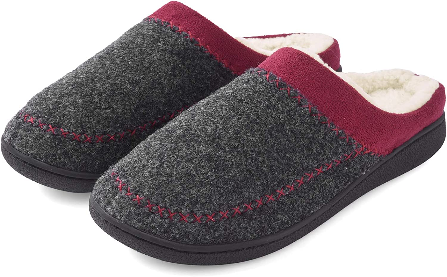 Maya Karis Purse Women's Cozy Comfort Memory Foam Slippers, Soft Warm Slip On House Slippers shoes Clog w Indoor Outdoor Anti-Skid Rubber Sole