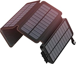 $39 Get SOARAISE Solar Charger 25000mAh Portable Power Bank with 2 USB Output Waterproof Battery Pack Compatible with Most Phones, Tablets and More