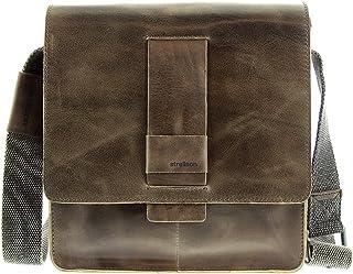 Strellson Lambeth Leder Messenger Bag SVF Cross Bag Umhängetasche grey grau
