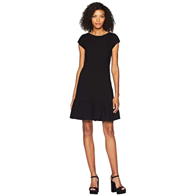 Rebecca Taylor Sleeveless Honeycomb Dress (Black) Women