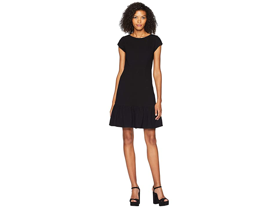 Rebecca Taylor Sleeveless Honeycomb Dress (Black) Women
