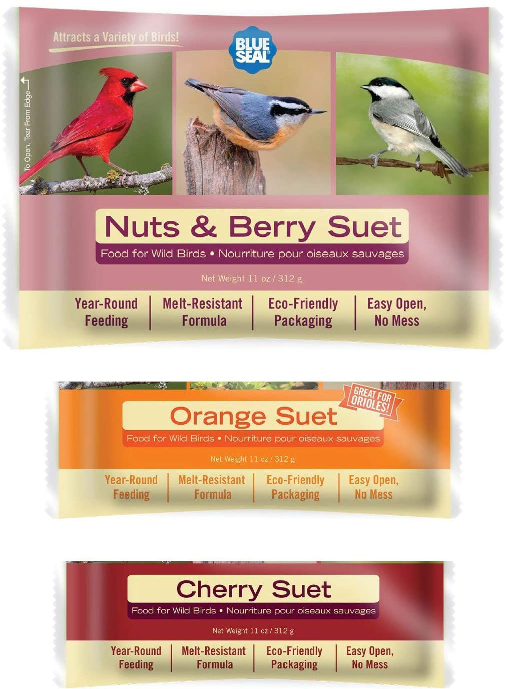 New Free Shipping Blue Seal Berry Blend Wild Outlet ☆ Free Shipping Bird 6pk Variety Suet