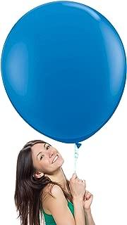 36 Inch (3 ft) Giant Jumbo Latex Balloons (Premium Helium Quality), Pack of 3, Regular Shape - Blue, for Photo Shoot/Birthday/Wedding Party/Festival/Event/Carnival