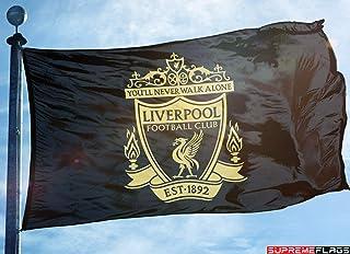 d99cfe215de Liverpool Flag Banner 3x5 ft England Premier Football Soccer Black Gold  Premium