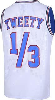 Mens Basketball Jersey 1/3 Tweety Space Jam Jersey 90S Shirts