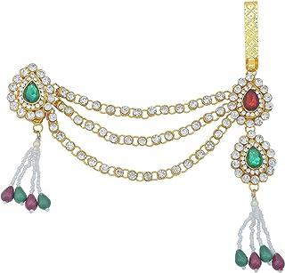 Memoir Gold Plated, CZ Pearls Kundan Half Kamarbandh Women