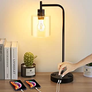 Table Lamp, ELECFORU Fully Stepless Dimmable Desk Lamp...