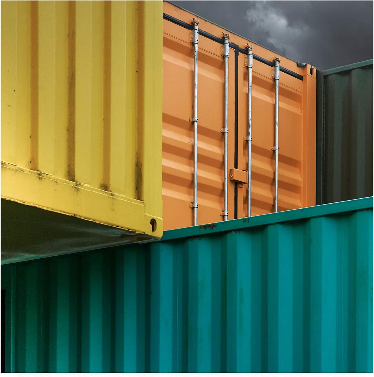 Trademark Fine Art 1X09989-C1414GG Container Tetris by Luc Vangindertael (Lagrange), 14x14, Multiple