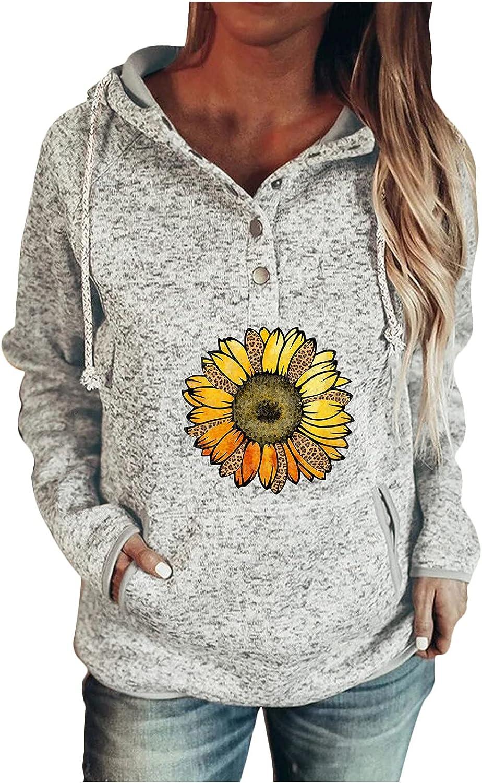 Cute Hoodie Women Butterfly Print Hooded Sweatshirt Long Sleeve Casual Pullover Tops with Pocket