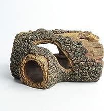 Hygger Betta Log Resin Hollow Tree Trunk Ornament, Betta Fish Accessories, Aquarium Decorations Wood House Small and Medium Fish Tank Decor