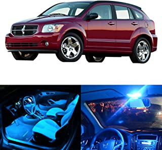 SCITOO LED Interior Lights 7pcs Ice Blue Package Kit Accessories Replacement Fits for 2007-2012 Dodge Caliber
