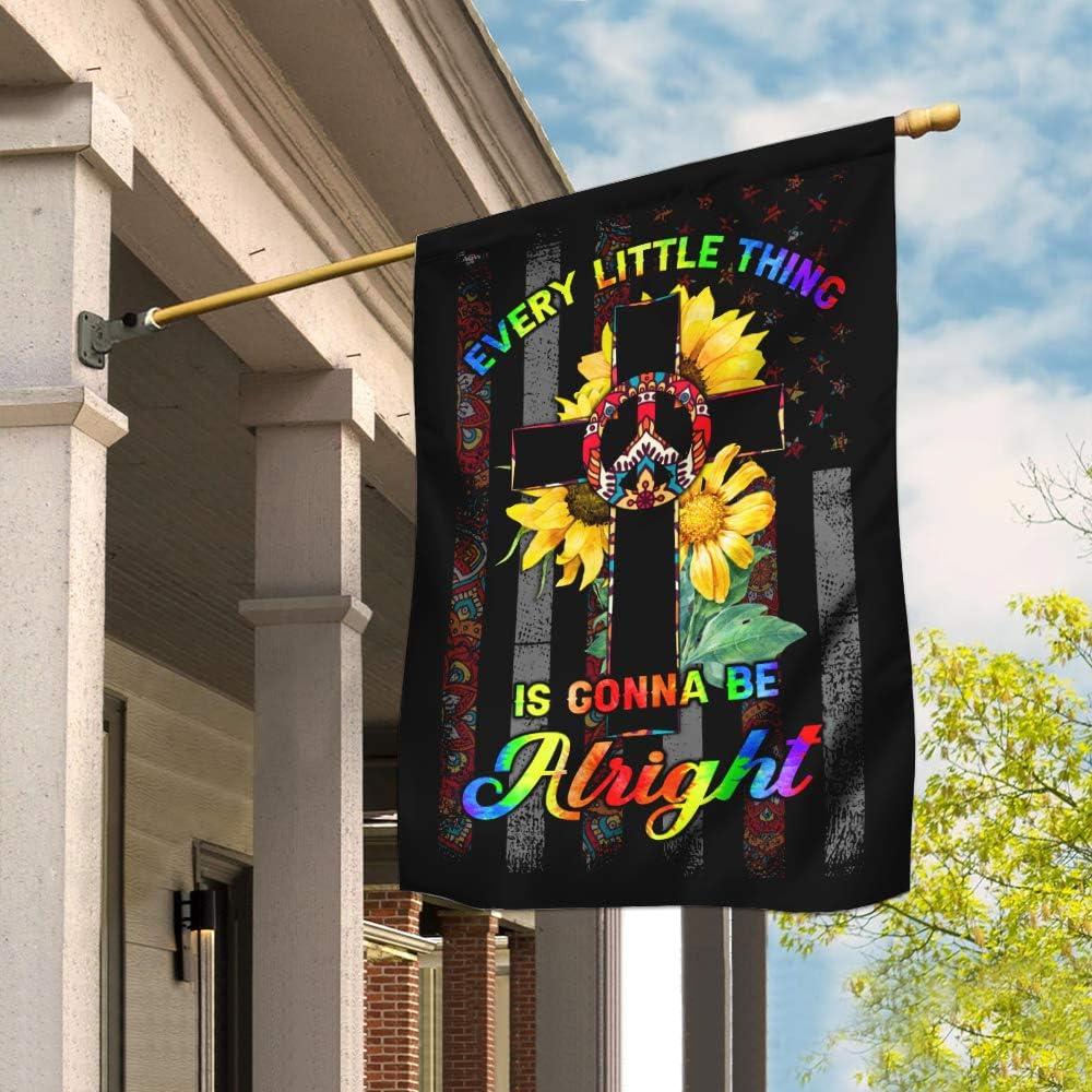 商舗 Flags-Every Little 売り出し Thing is Gonna Christian Cr Hippie Alright Be
