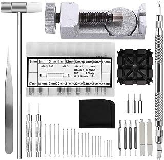 109 pcs Kits et Outils de réparation de Montre avec Tournevis pour Retrait des maillons/posage pour Bracelet/Marteau/goupi...