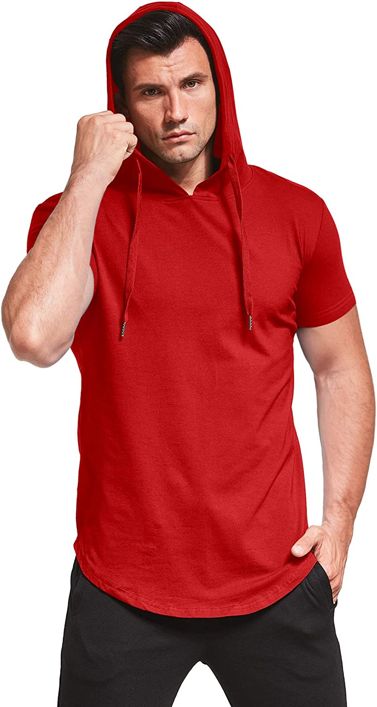 Aiyino Men's S-5X Short Sleeve Fashion Athletic Hoodies Sport Sweatshirt Hip Hop Pullover