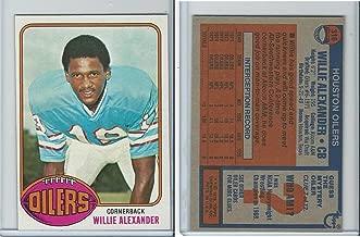 1976 Topps Football, 316 Willie Alexander, Houston Oilers