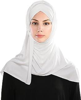 وشاح لينميبوت، حجاب اسلامي للراس وشاح كروس شال حجاب قماش جورسيه للنساء، 65 انش × 23.5 انش