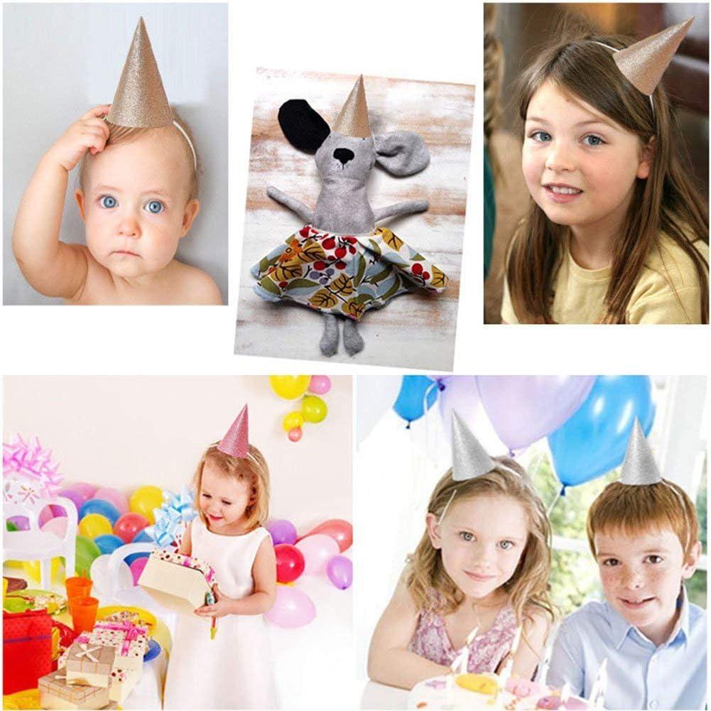 Xiton 12PCS Chapeaux De F/êTe Chapeau Mini Couronne Brillant Chapeau De Couronne pour La F/êTe Favors Anniversaire Baby Shower Wedding Graduation dor