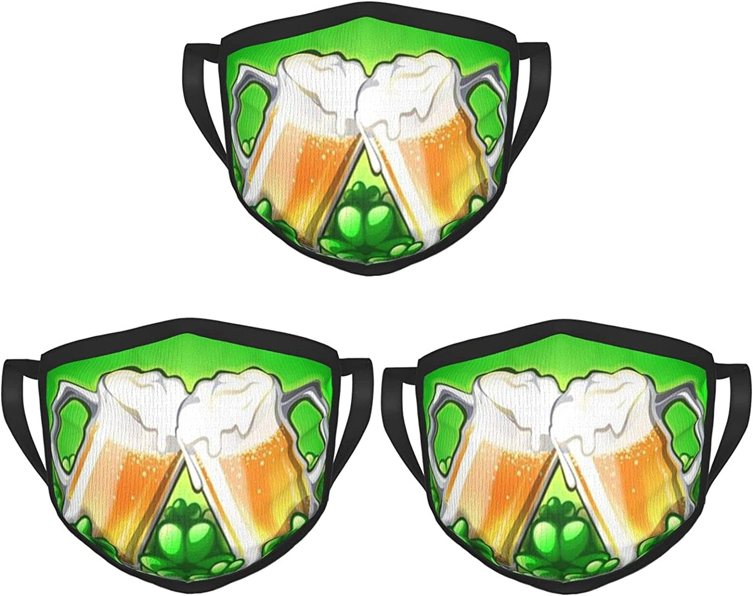 Balaclava Earmuffs Happy St Patricks Day Cheer Beer Face Mouth Cover Mask Reusable Dust Scarf Towel Cover Headwrap